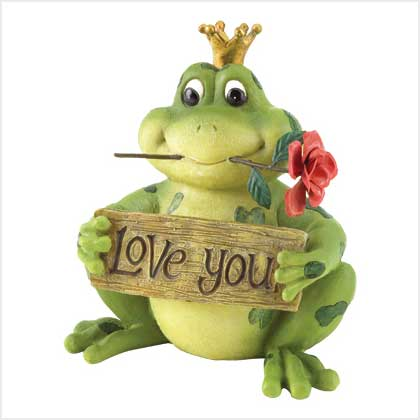 Love You Frog Prince Figurine