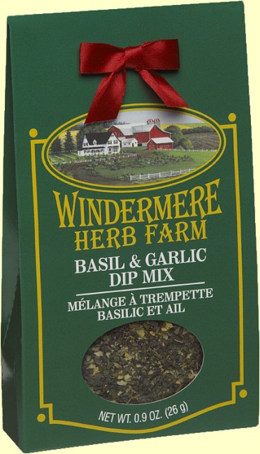 Windermere Herb Farm Basil & Garlic Dip Mix