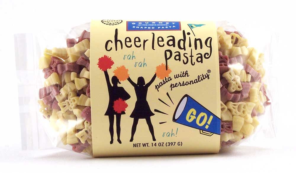 Cheerleading Pasta with Personality