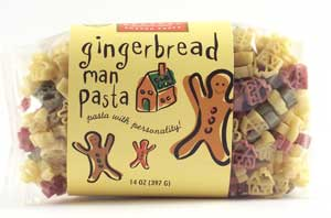 Gingerbread Man Pasta with Personality