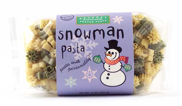 Snowman Pasta with Personality