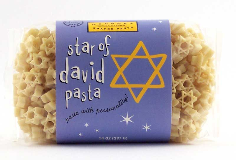 Star of David Pasta with Personality