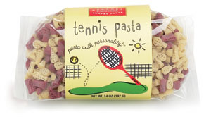 Tennis Pasta with Personality